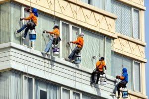 mytí oken na stavbě Praha