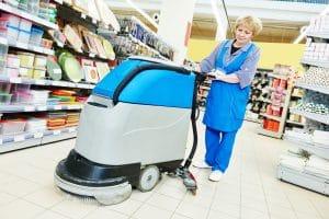čištění podlah v nákupních centrech