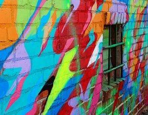 pomalovaná zeď