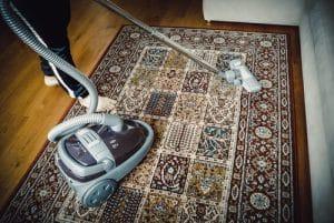 Vlněný koberec - generální čištění