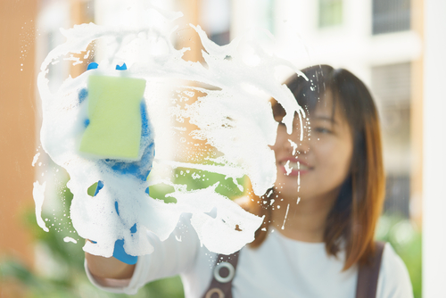 kvalitné umytie okien