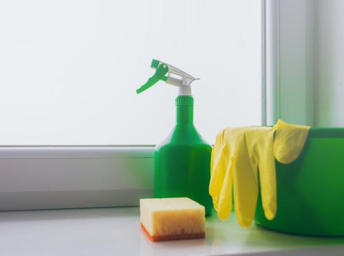 Zimní zahrady, čištění skel