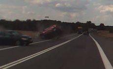 Řidička usnula a v protisměru smetla dvě auta. Policie zveřejnila varovné video