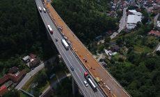 Oprava nejvyššího mostu na D1 z ptačí perspektivy