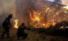 Na 1000 lidí bylo evakuováno kvůli požáru na řeckém ostrově Samos